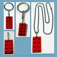 1 - 50 Lot Lego Party Favors Combo: Necklace, Key Ring, Zipper Pull, Key Chain