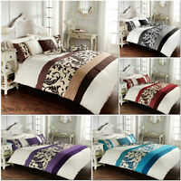 Scroll Stripes/Pintuck Luxury Duvet Covers Quilt Covers Reversible Bedding Sets