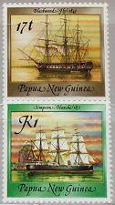 PAPUA NEUGUINEA NEW GUINEA 1988 565-66 Sailing Ships Schiffe Segelschiffe MNH