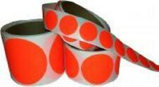 """Dayglo Red Self-Adhesive Pasters, 2 rolls of 2"""" pasters."""