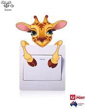 Giraffe Light Switch Wall Removable Sticker Decal