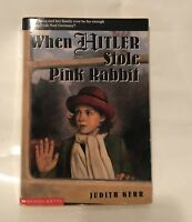 Scholastic When Hitler Stole Pink Rabbit by Judith Kerr 1998 Paperback