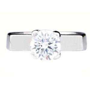 14KT Finest White Gold - D/VVS1 Round Shape 2.75 Carat Solitaire Women's Ring