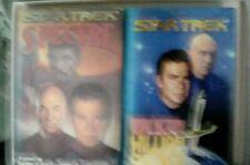 Two Star Trek books by William Shatner, Spectre & Dark Victory Hardback, V.Good.