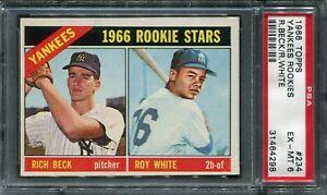1966 Topps #234 Roy White Rookie PSA 6 EX-MT