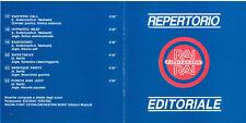 """REPERTORIO EDITORIALE RAI  """"Vita di oggi"""" 1991 cat. CDRE1305  CD NUOVO SIGILLATO"""