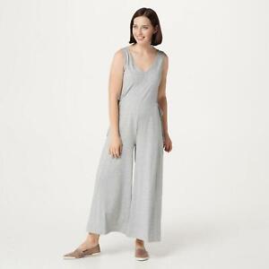NWT AnyBody Womens Regular Cozy Knit Wide-Leg Jumpsuit. A354732