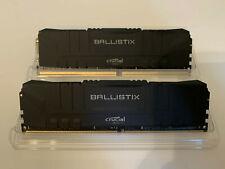 New listing Ballistix 32Gb Ddr4-2666 w/xmp 16-18-18-38 1.2V (2x16Gb)
