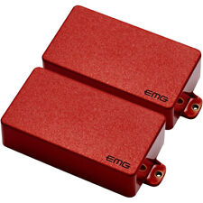 EMG Pickups 81/60 Active Guitar Humbucker Pickup Set, Short Shaft, Red