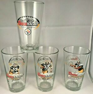 Pittsburgh Steelers Coors Light Beer Pint Glass 16 Oz