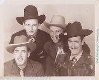 THE GEORGIA CRACKERS - Hank Newman * Slim Newman * Bob Newman * Photograph