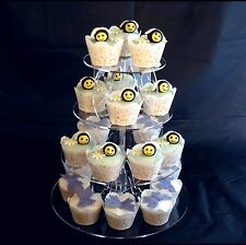 4 Tier Round Acrylic High Heels & Hearts Wedding & Party Cake Stand