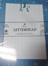 Christmas Letterhead Blue Stockings - 8.5x11 injet copier laser 100 Sheets NEW