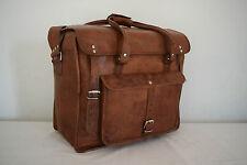 "LARGE 18x15"" Real Leather Duffle Bag Weekend Travel Handbag Luggage Hold-all Bag"