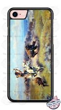 Native Indian Warrior Hunting Buffalo Phone Case for iPhone Samsung LG HTC etc