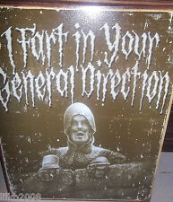 MONTY PYTHON- I FART IN YOUR GENERAL DIRECTION/ JOHN CLEESE METAL SIGN 40x30 cm