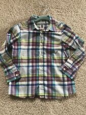 """EEUC Designer Bonpoint Boy Shirt Checks SZ 3 Button Down Shirt """"So Adorable"""" !"""
