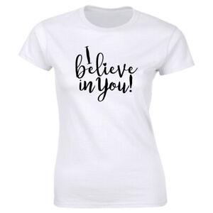 I Believe In You Short Sleeve T-Shirt for Women Teachers Tee