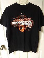 Vintage Majestic MLB 2012 Baltimore Orioles Post Season Baseball T-Shirt Men L
