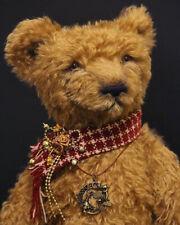 Honey big classic artist mohair teddy bear smiling scarf fluffy toy alice wonder