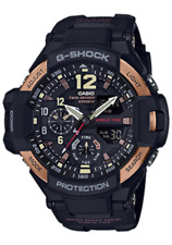 Casio G-Shock Mens Wrist Watch GA1100RG-1A GA-1100RG-1A Gravitymaster Black Gold