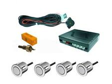 Silver 4 Point Rear Parking Sensor Kit with Speaker / Buzzer - TOYOTA YARIS