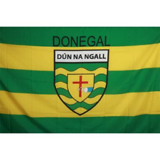 DONEGAL Official GAA Crest County Flag 152cm x 91cm (5foot x3 foot)
