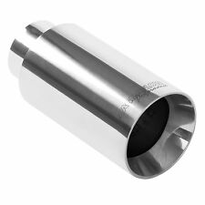 "Magnaflow 35125  Stainless Exhaust Tip 2.25"" Inlet 3.5"" Round 4.5"" Long Polished"