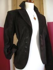 Ladies BETTY BARCLAY real suede JACKET COAT BLAZER UK 14 40 short hip length