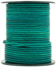Xsotica® Turquoise Natural Dye Round Leather Cord 2mm 10 meters(11 yards)