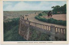 "CANADA 1920 superb mint coloured pc ""Lookout atop Mount Royal, MONTREAL, Quebec"""