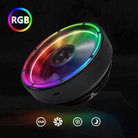 RGB CPU Fan Heat Sinks For Intel AMD LED Cooler Desktop Computer Case Radiator