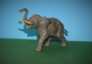 TIMPO TOYS VINTAGE 1950s LEAD ZOO SERIES ELEPHANT RAISED TRUNK