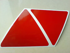 Reflective Triangles Motorbike Caravan Motorhome Trailer Stickers 2 off 95mm
