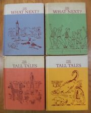 Lot x 4 Scott/Foresman Readers Vintage 1960's~What Next 1&2/Tall Tales 1&2