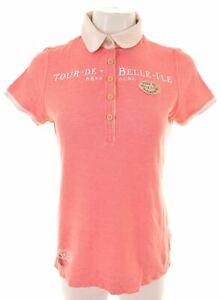 GAASTRA Womens Polo Shirt Size 12 Medium Pink Cotton  HC04