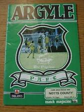 31/08/1985 Plymouth Argyle v Notts County  (Crease). No obvious faults, unless d