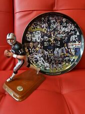 The Danbury Mint 2001 Oakland Raiders Afc West Plate & Rich Gannon Figurine