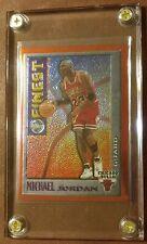 1995-96 Topps Mystery Finest Michael Jordan M1 Chicago Bulls Orange Border