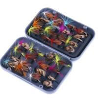 32x Fischköder Fliegen Insekt Lachs Fliegen Forelle Dry Fishing W6I6 Lure S H0Z6