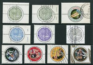 NEW ZEALAND....   Collection of 10 used round stamps