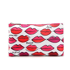 CLINIQUE Red Hot Lips Cosmetics Makeup Zipper Exclusive Bag Pouch Case GWP