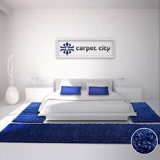 Teppich Shaggy Einfarbig 15 Farben Öko Tex Bettumrandung 2x80x150 & 1x80x300 cm