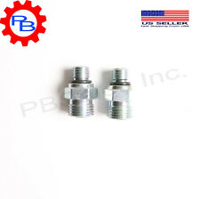 Qty 2 Turbo oil supply line fitting with O Rings  for Dodge Cummins 24v 98-06