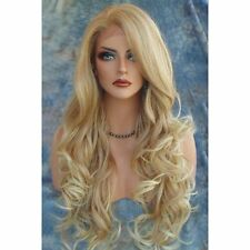 Charming Long Shaggy Wavy Capless Dark Blonde Brown Synthetic Wig Hair NO LACE