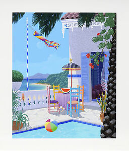 John Kiraly - Lazy Afternoon, hand-signed serigraph