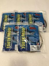 AFW Tooth Proof #14 Stainless Steel Single Leader Wire 218lb Brown 30ft Lot Of 5