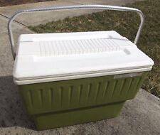 Vintage COOL KING green Unique Rare Aluminum Handle Cooler Ice Chest HOT N COOLE