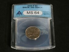 2005 P Rear Wounded or Speared in Rear Jefferson Nickel ANACS MS-64 BU Condition