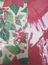 "Christmas Poinsetta Beautiful Gift Tissue Paper 16 Sheets 20"" x 20"" Each Sheet"